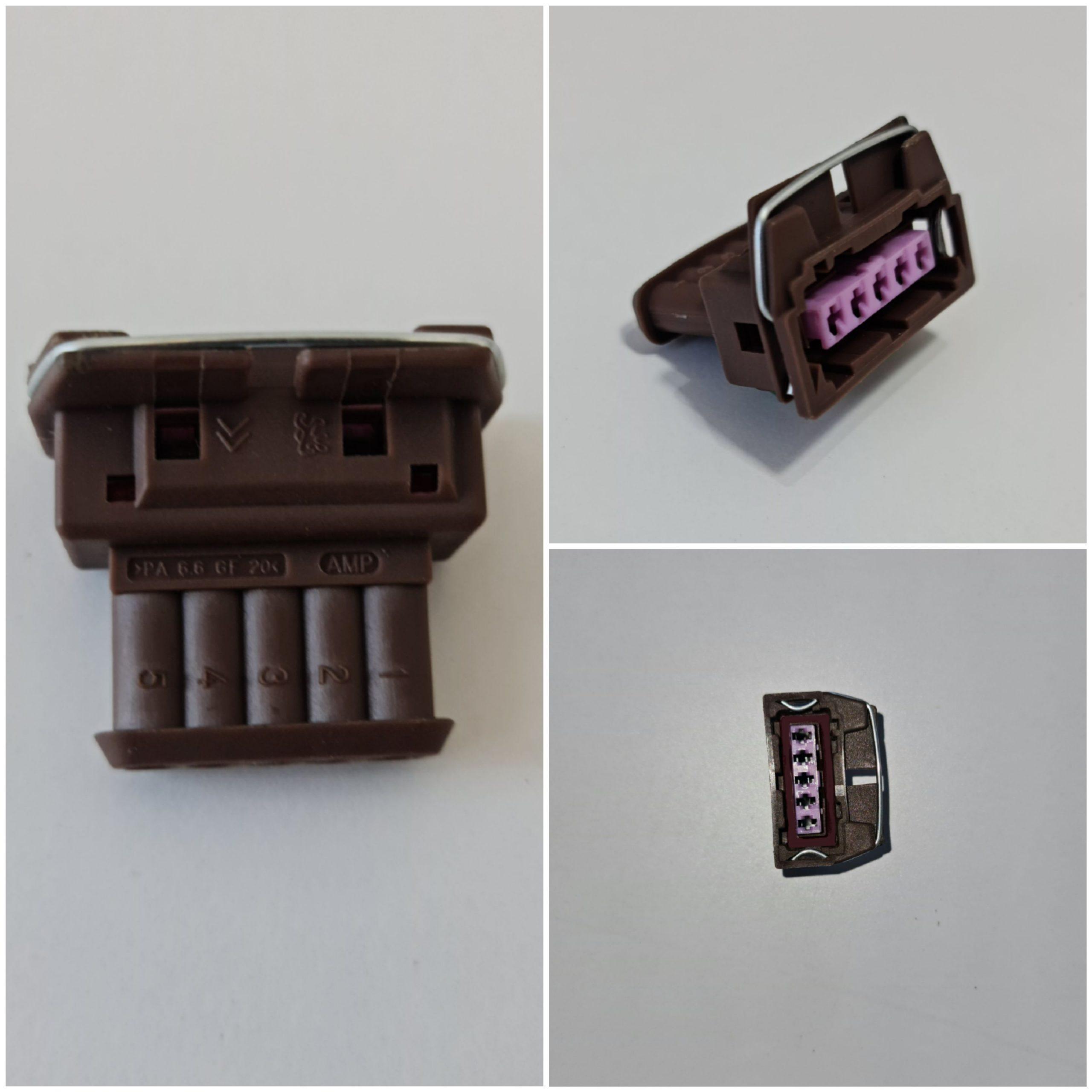 سوکت ۵ خانه قهوه ای قفل فنری / کد ۸۳۰۳۷۱