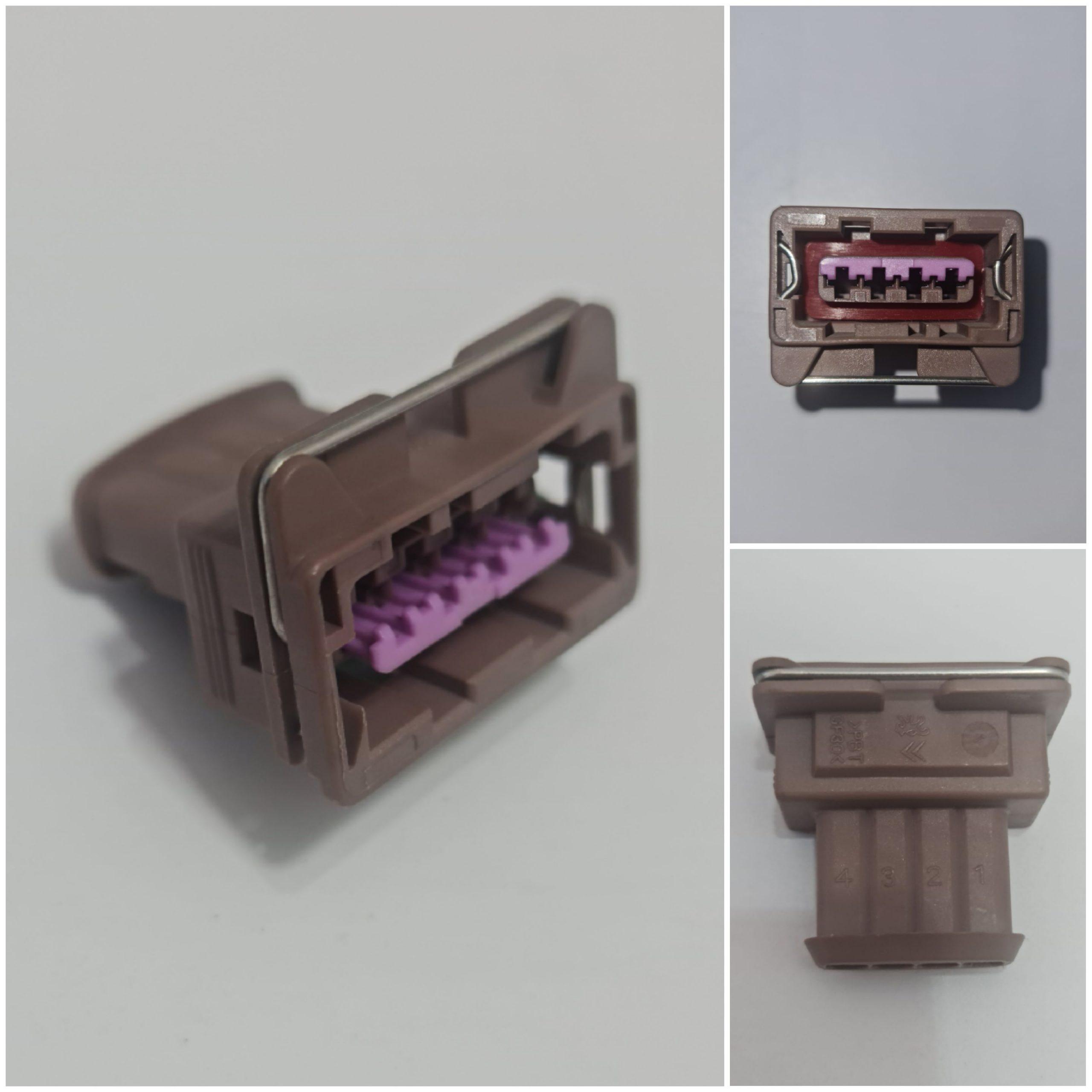 سوکت ۴ خانه قفل فنری قهوه ای/کد :۸۳۰۵۵۰